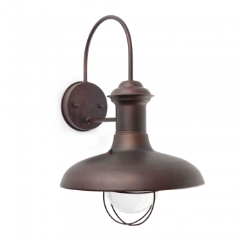 Outdoor wall in brown rust and diameter of 31 cm with 42W bulb