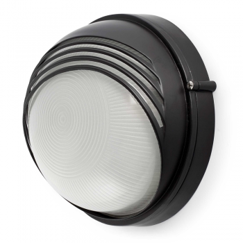 Lamp black with visor for outdoor and Eco 42W bulb