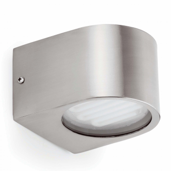 Wall light in brushed nickel with two low-9W cold