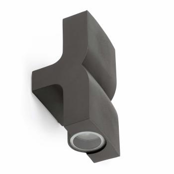 Aplique vanguardista en gris oscuro con dos portalámparas GU10