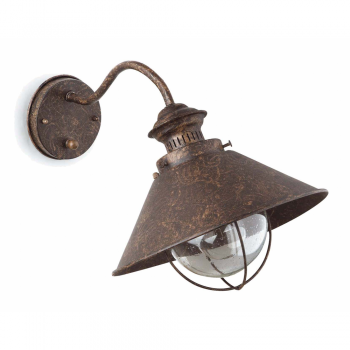 Navy I lamp rust brown outdoor with 11W