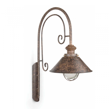 Navy II lamp rust brown outdoor with 11W