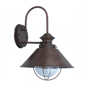 Navy III lamp rust brown outdoor with 11W