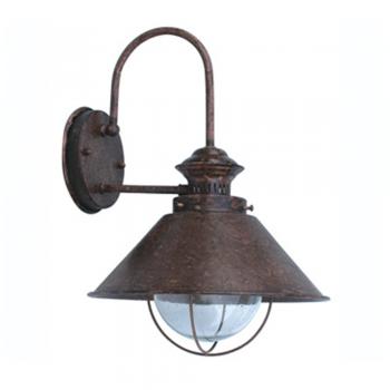Navy III lamp rust brown outdoor with 11W