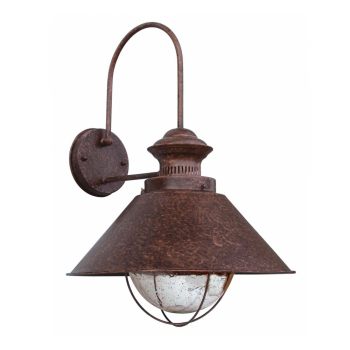 Lamp Navy IV rust brown outdoor with 11W