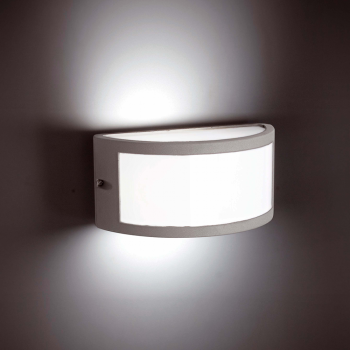 Outdoor wall light in gray with Eco 42W bulb