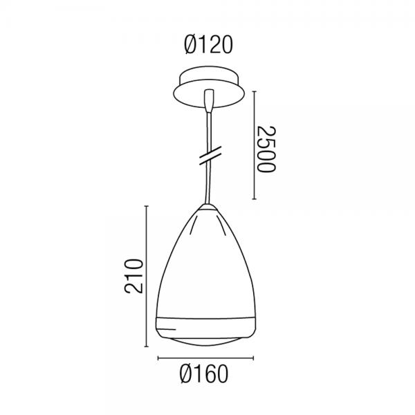 hanging lamp black vespa mod mini model with 42w bulb