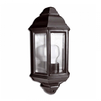Classic Wall Light In Black With Eco Bulb 42W