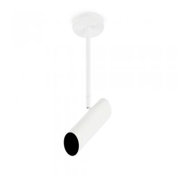 Lámpara colgante trendy blanca con portalámpara GU10