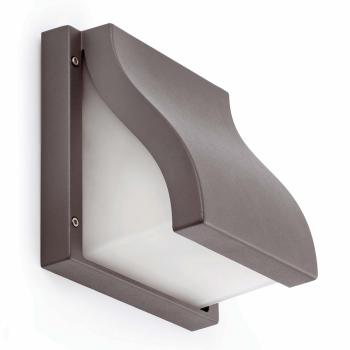 Aplique vanguardista en color gris oscuro con dos portalámparas E27