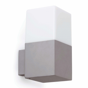 Lamp Ice in gray with low energy bulb cool 15W