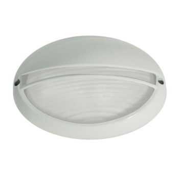 Lamp with grille and visor, white outdoor with Eco Bulb 42W