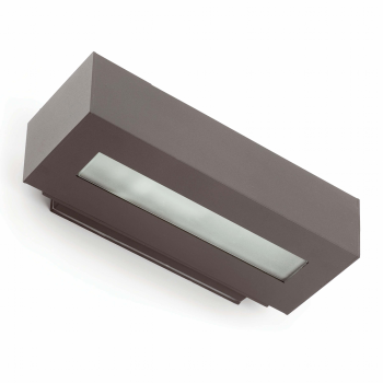 Lamp minimal wall washer in dark gray with Eco 42W bulb