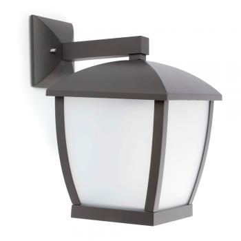 Contemporary outdoor in dark gray and Eco 42W bulb
