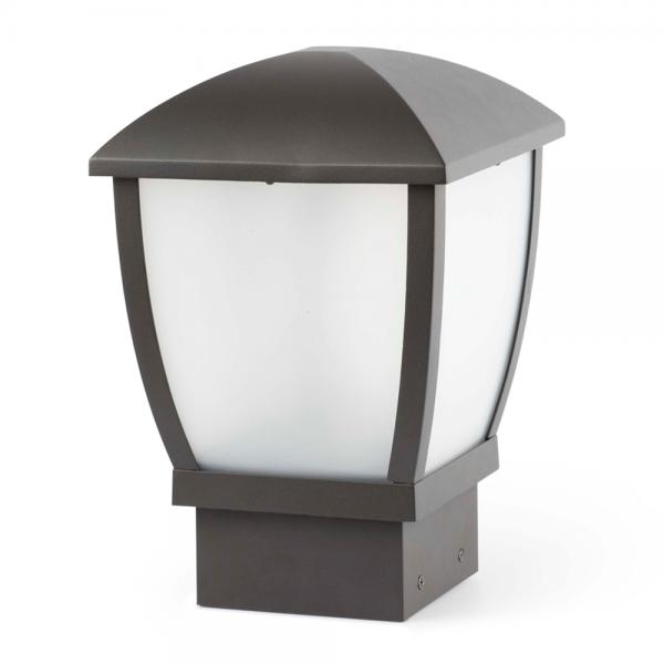 Sobremuro moderno de exterior en gris oscuro y bombilla for Exterior gris oscuro