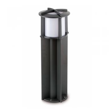 Baliza de 60 cm de estilo moderno en gris oscuro