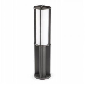 Baliza de 85 cm de estilo moderno en gris oscuro con bajo consumo 36W