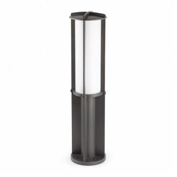 Baliza de 85 cm de estilo moderno en gris oscuro con LED de 24W