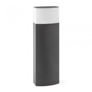 Baliza moderna en color gris oscuro