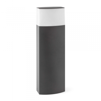 Contemporary bollard light in dark gray with energy saving light bulb 20W cold