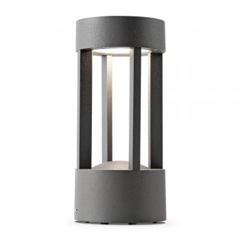 Baliza vanguardista de 20 cm gris oscuro con LED de 5W cálido