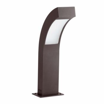 Baliza de 40 cm vanguardista en color gris oscuro con LED de 3W