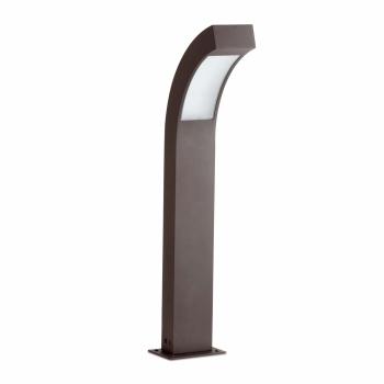 Baliza de 60 cm vanguardista en color gris oscuro con LED de 3W