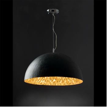 Lámpara en negro y oro Artdeco con tres portalámparas E27