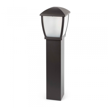Contemporary bollard dark gray Eco 42W bulb