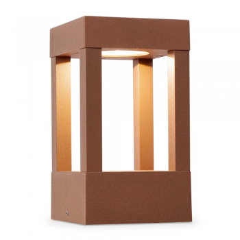 Beacon 20 cm vanguard in brown rust with 5W LED warm