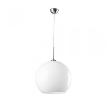 Lámpara de diseño vanguardista blanca de 40 cm con portalámpara E27