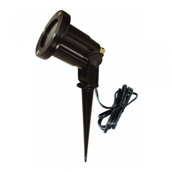 Proyector con estoque en color negro con halógena de 50W - 220V