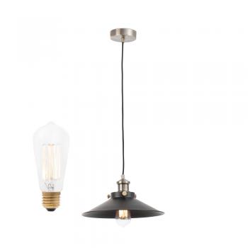 Lámpara colgante fabricada en metal y portalámpara E27