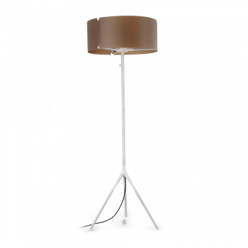 Ip65 Outdoor Floor Lamp In White And Brown With Energy Saving