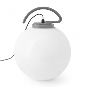 Cool Portable Lamp in gray with Eco Bulb 42W