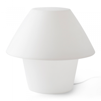 Home Outdoor Lamp in white with energy saving light bulb of 15W warm