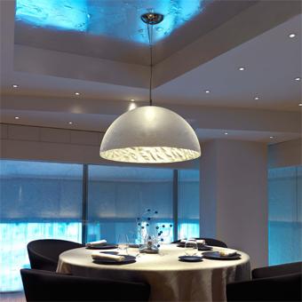 Black and silver lamp Artdeco with Eco 42W bulbs