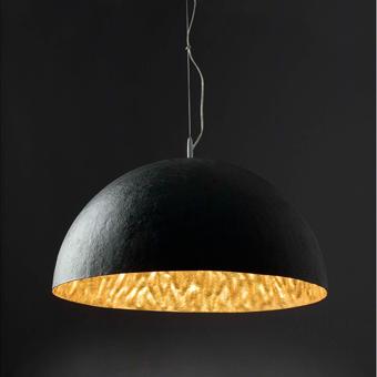 Black and gold lamp Artdeco with Eco 42W bulbs