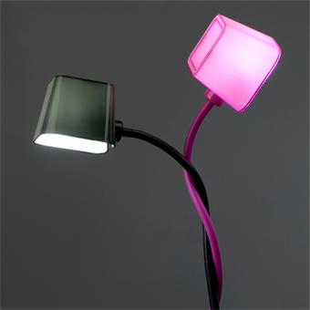Chic lamp in black with 15W energy saving lamp