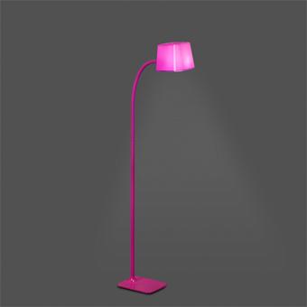 Lámpara de pie Chic en fucsia con portalámpara E27