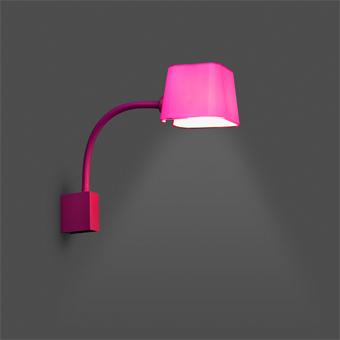 Lámpara de pared Chic en fucsia con portalámpara E27