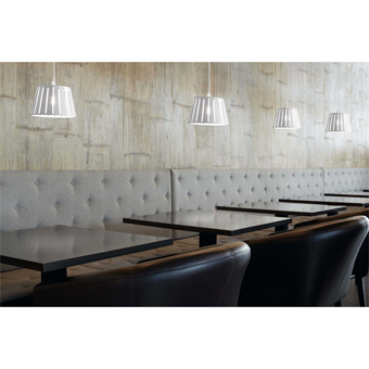 Pendant lamp in white factory inspired Eco 42W bulb