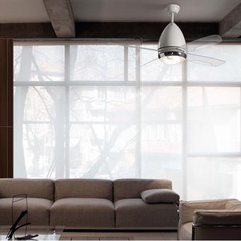 Ventilador de techo Vespa beige modelo MOD con dos portalámparas E27