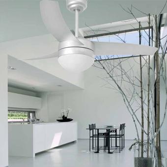 Ventilador de estilo Trendy en color gris con portalámpara E27