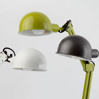Lámpara flexo vintage en color gris