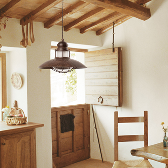 Lamp rustic brown lamp bulb 42W Eco