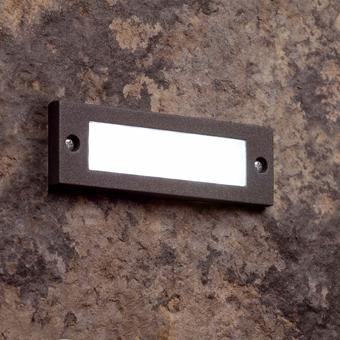 Empotrable de pared IP54 en gris oscuro y LED de 2W frío