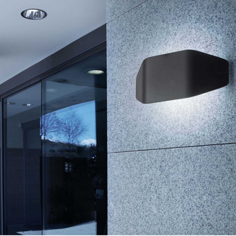 Lamp wall trendy dark gray and cold saving 20W