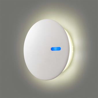 Aplique circular blanco con stickers de colores y LED de 2W frío