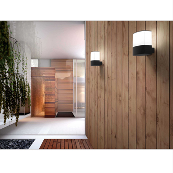 Contemporary in dark gray with energy saving light bulb 20W cold